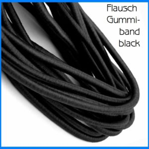 Flausch Gummiband black