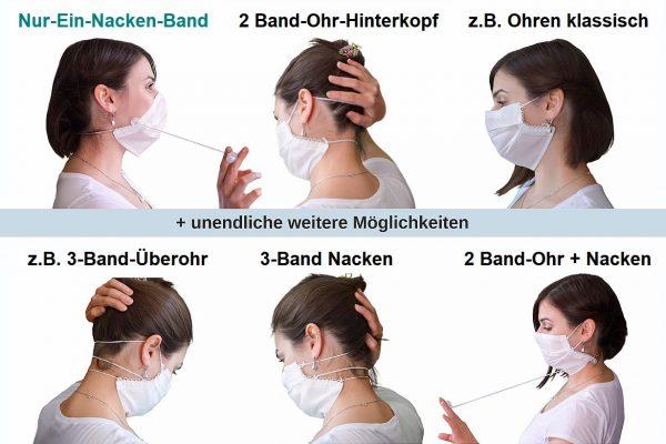 Silkmask einige Tragevarianten